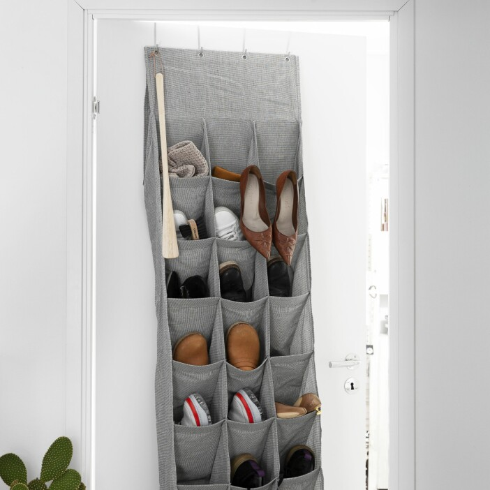 Garderob förvaring tyg vägg Granit
