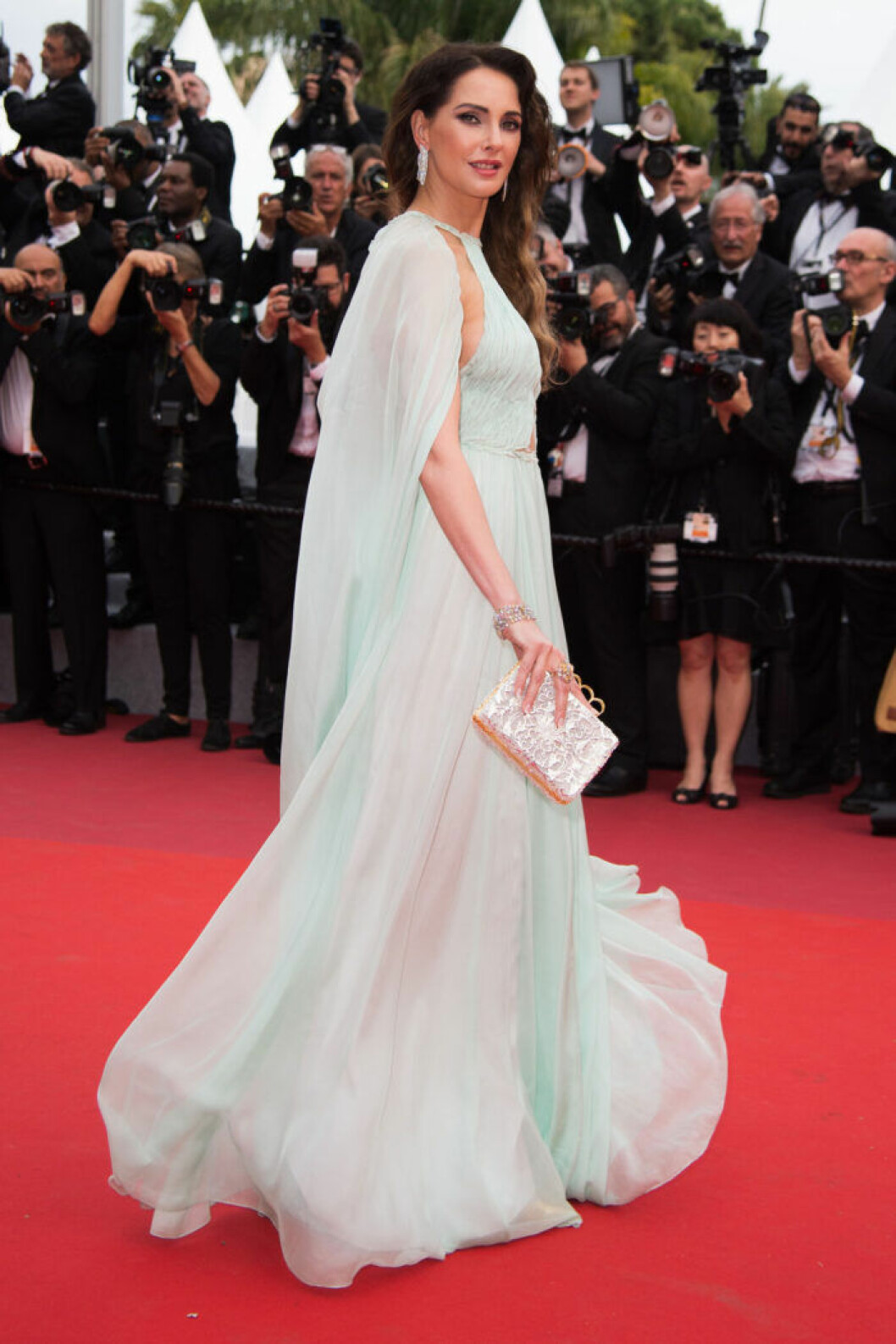Frederique Bel på filmfestivalen i Cannes 2019