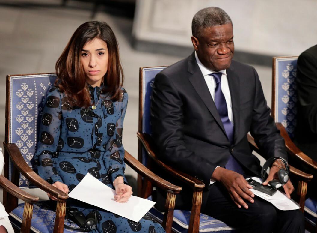 Nadia Murad och Denis Mukwege tilldelades Nobels fredspris 2018.
