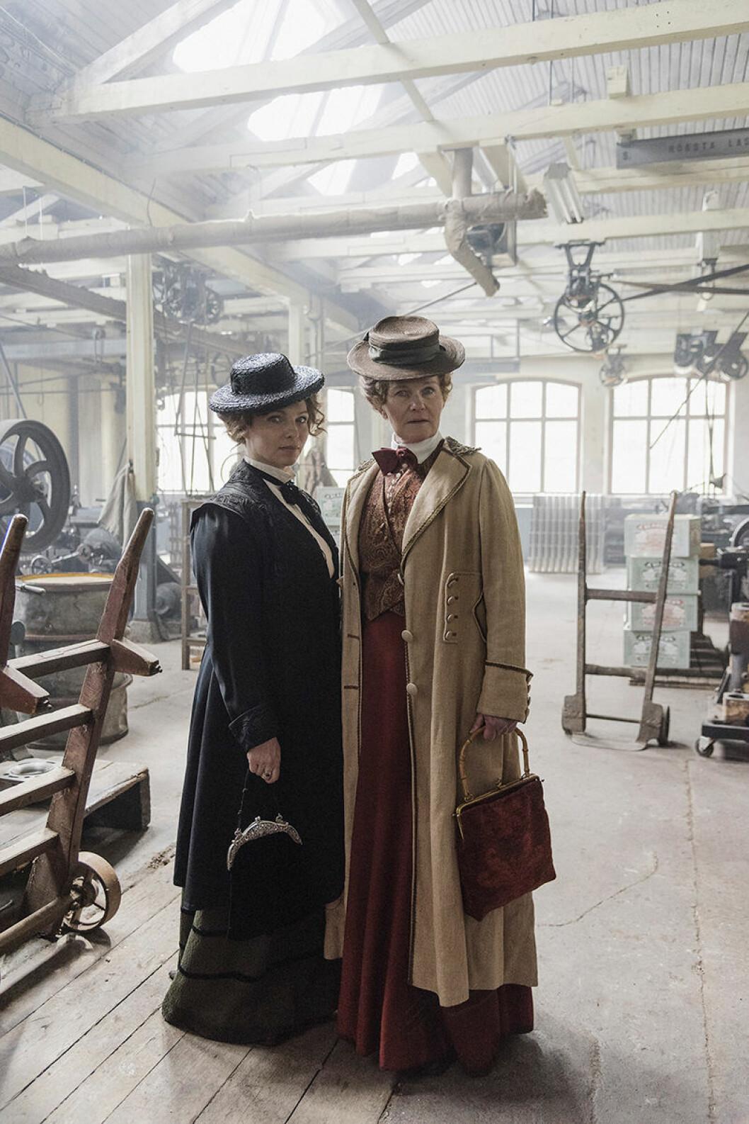 """SVT-serien """"Fröken Frimans krig"""" handlar om 1900-talets tidiga kvinnokamp. Här med Sofia Ledarp."""