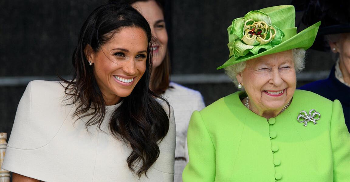 Meghan och drottning Elizabeth tillsammans