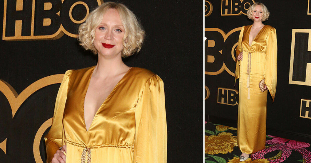 Gwendoline Christie (Brienne of Tarth i Game of Thrones) på Emmy-galan 2018.