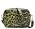 Leopardmönstrad väska i skinn i grönt och svart. Handväska från Ganni.