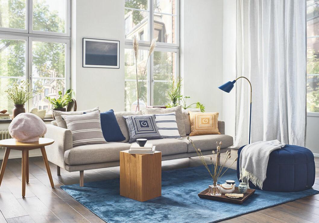Blå detaljer i Gant Homes vårkollektion 2020