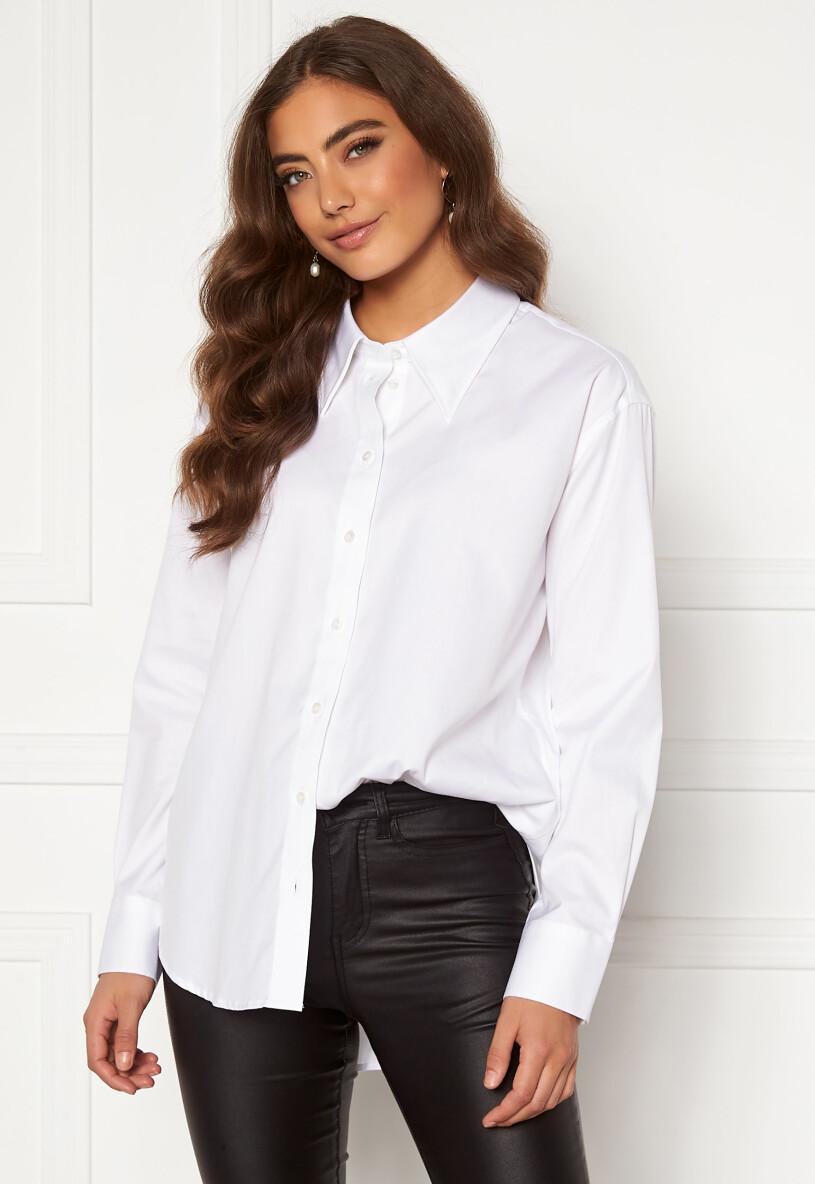vit skjorta gant