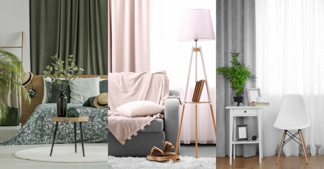 Fina gardiner i olika färger