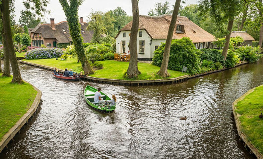Giethoorn i Nederländerna