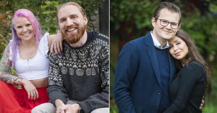 Elina Raeder med Albin Ringstad, och Jacob Claesson med Elahe Eskandari
