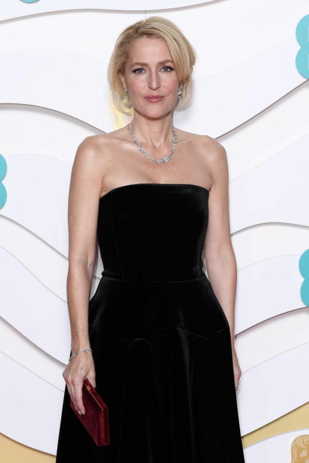 Gillian Anderson på Bafta-galan 2020.