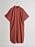 Rostfärgad skjortklänning i lång modell med korta, vida ärmar. Skjortklänning från Gina tricot.