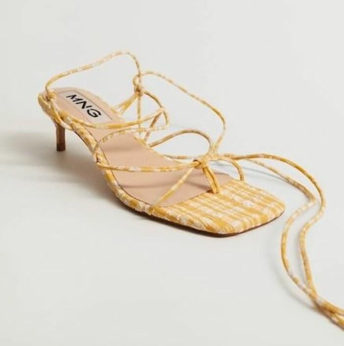 rutiga sandaletter från mango