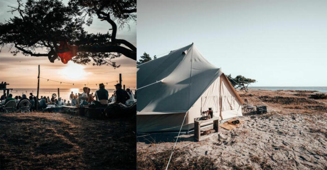 Surflogiet Gotland, prova på glamping.