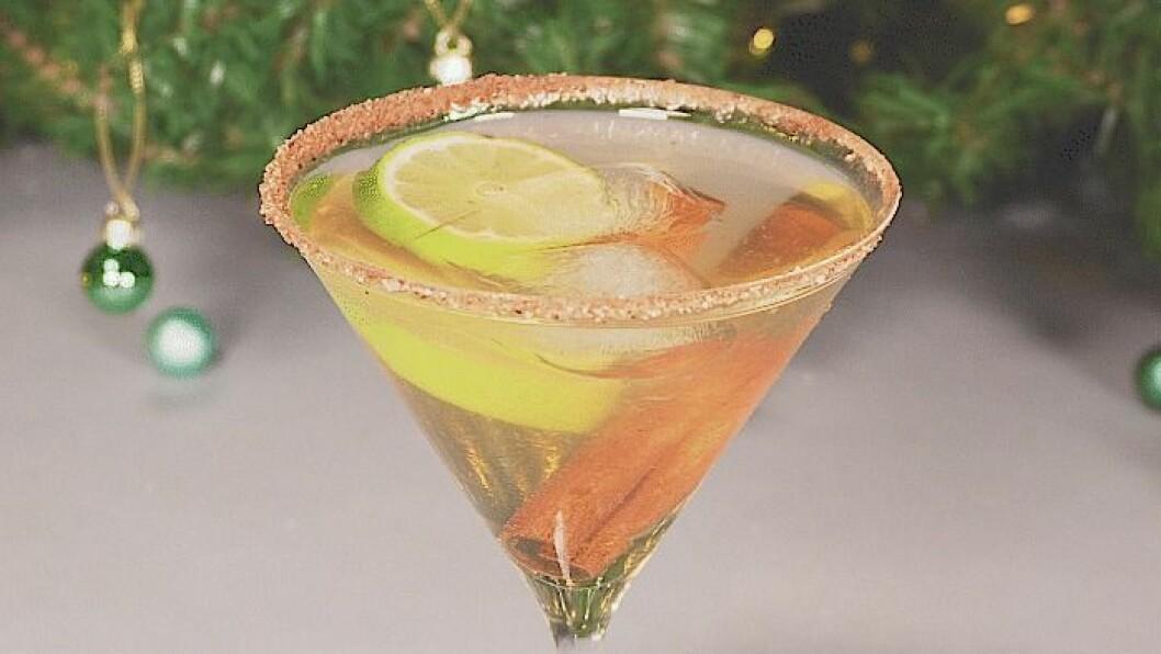 Glöggtini en martinidrink som smakar glögg