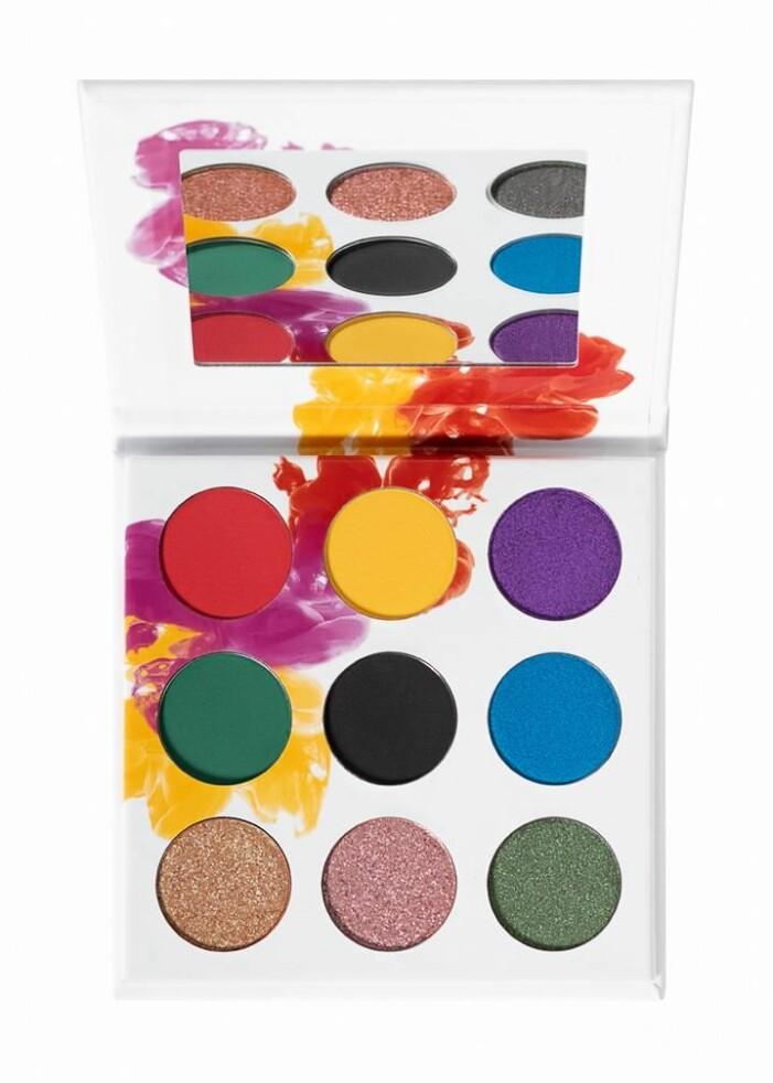 färgsprakande palett från glossgods