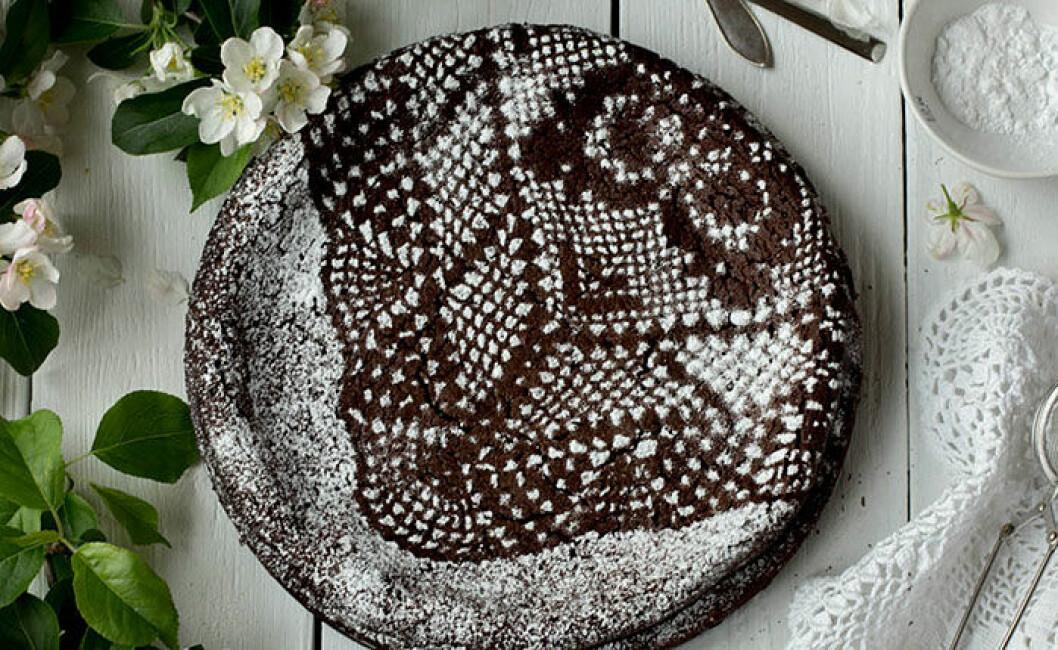 Kladdkaka med mörk choklad