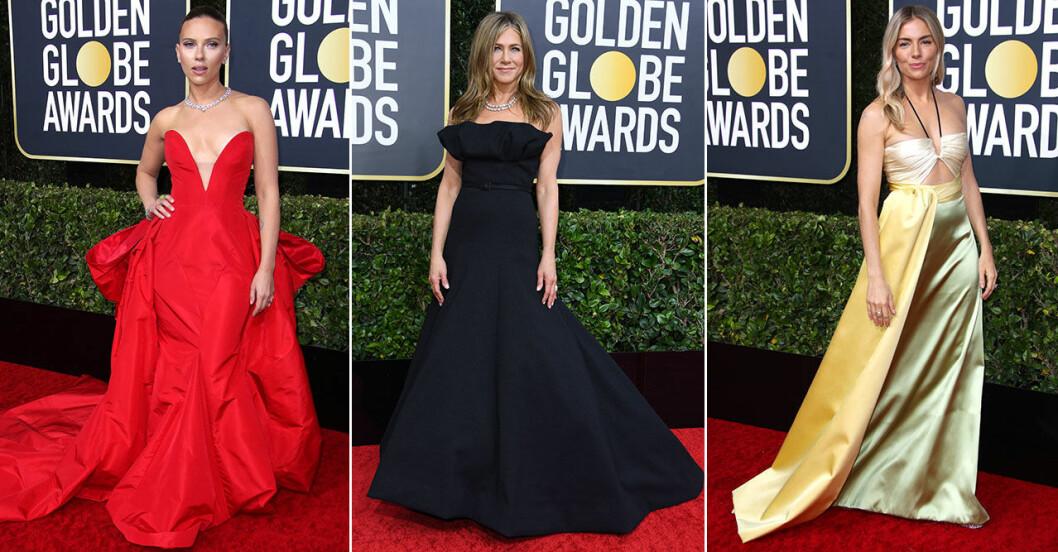 Röda mattan Golden Globes 2020