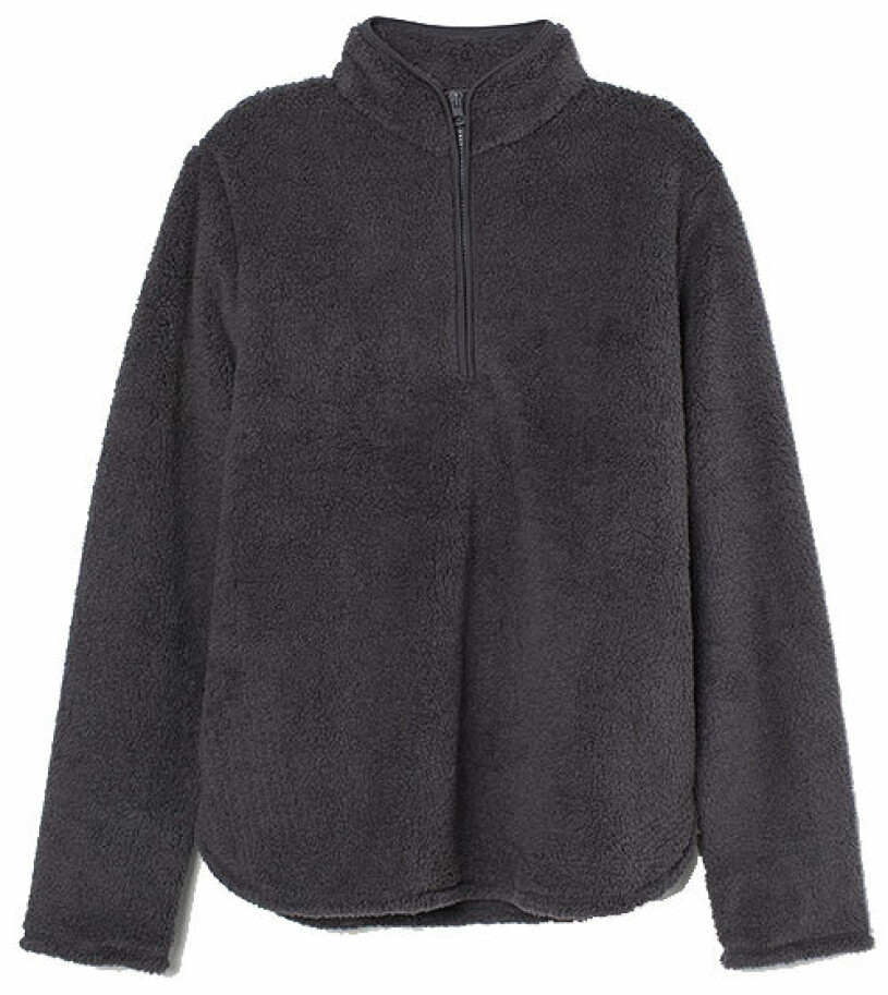 grå fleece hm
