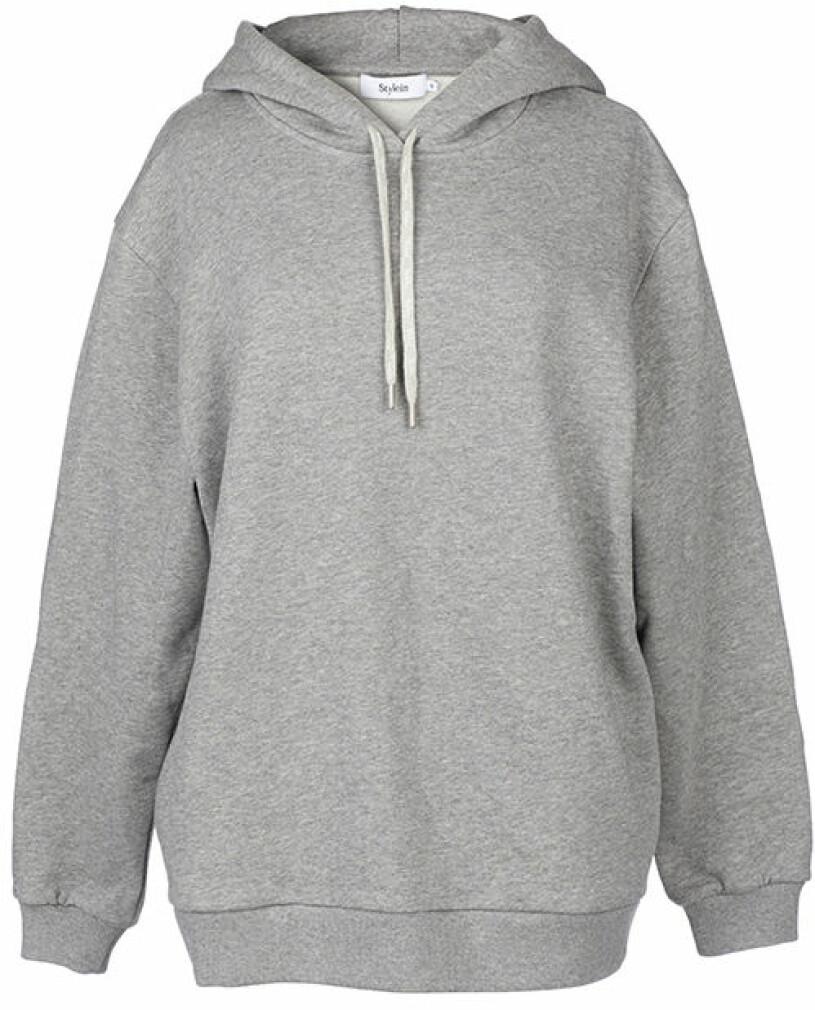 grå hoodie stylein