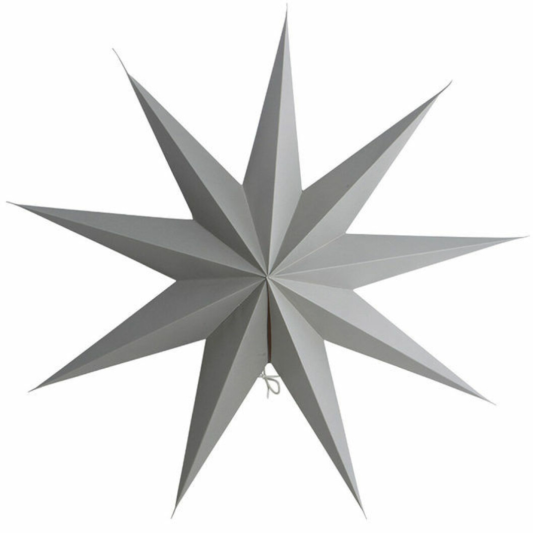 Grå minimalistisk julstjärna från House Doctor