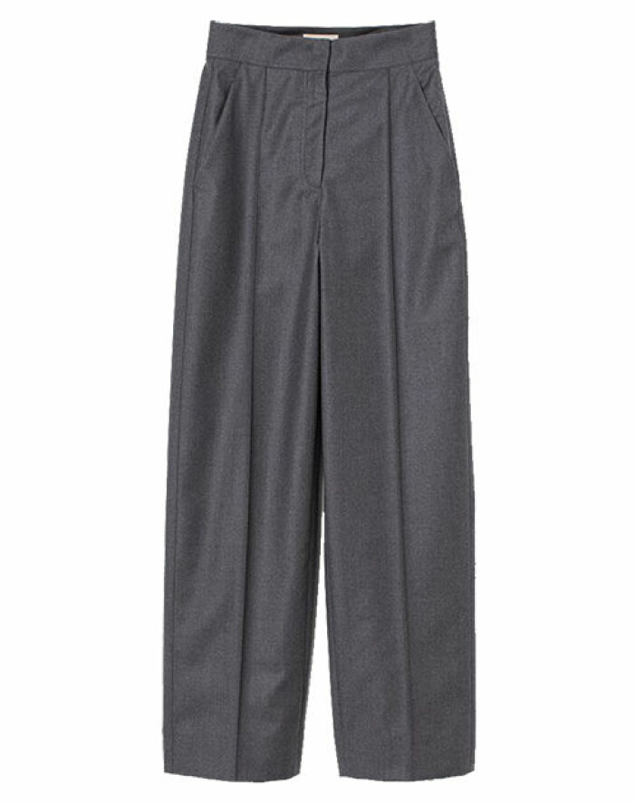 grå kostymbyxor från hm