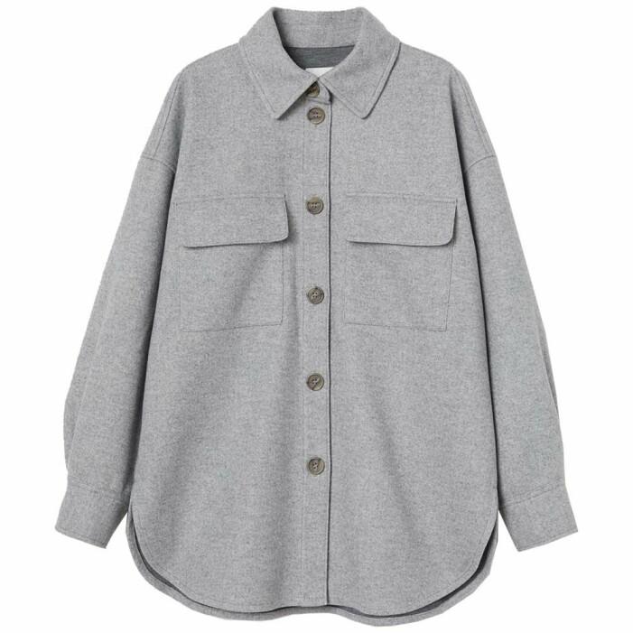 grå skjortjacka från H&M