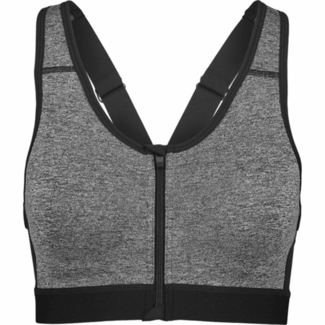 Sportbehå i grå färg med knäppning framtill