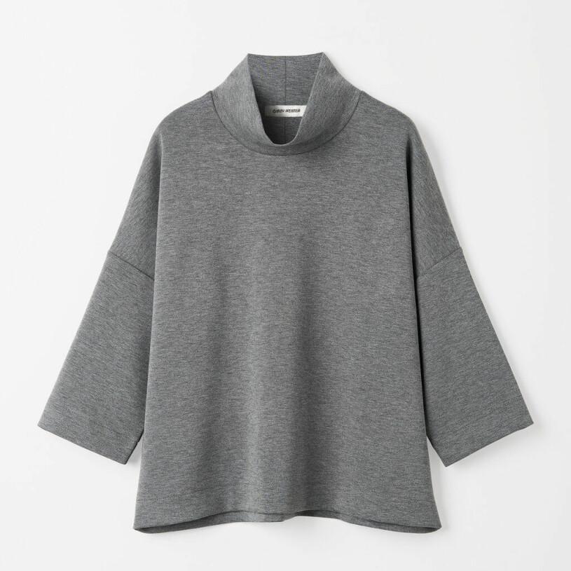 Grå tröja med polokrage