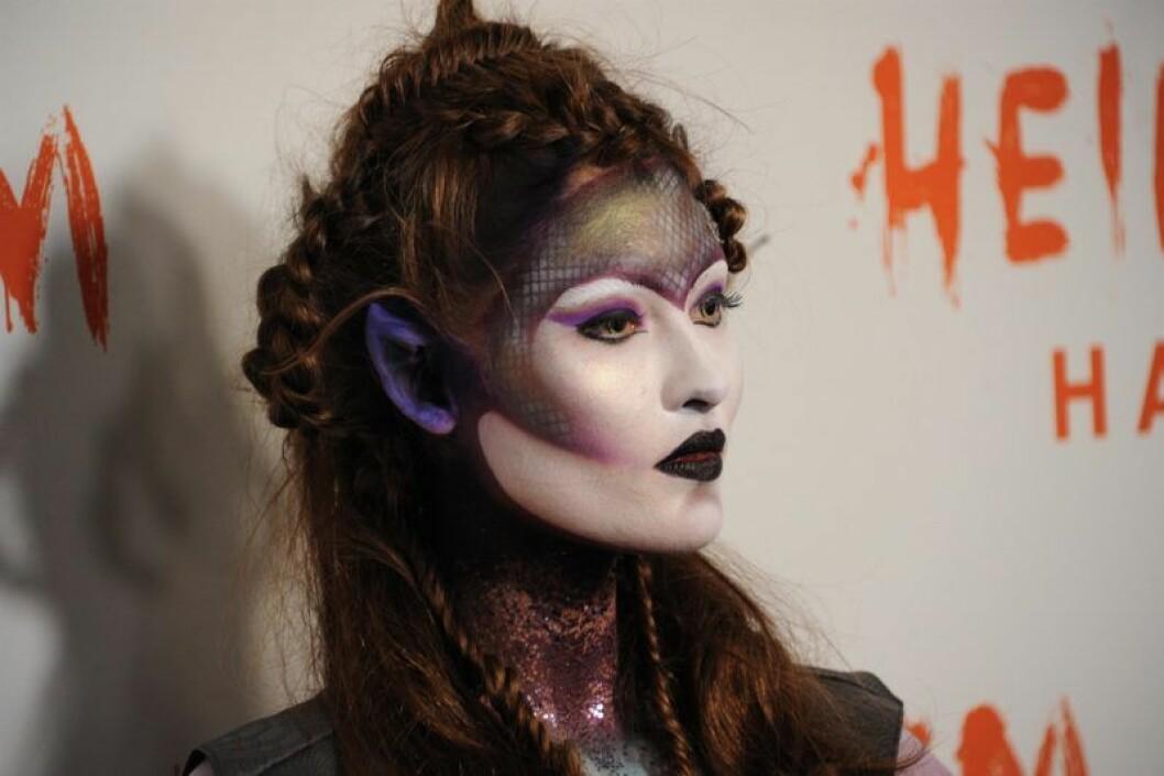 Grace Elizabeth på Heidi Klums halloweenfest 2019