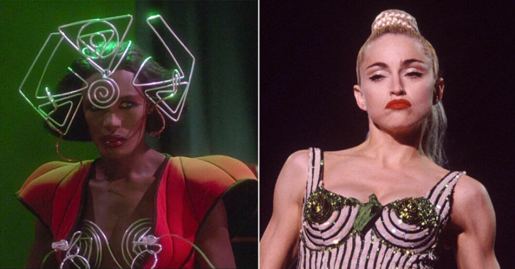Madonna och Grace Jones i strut bh