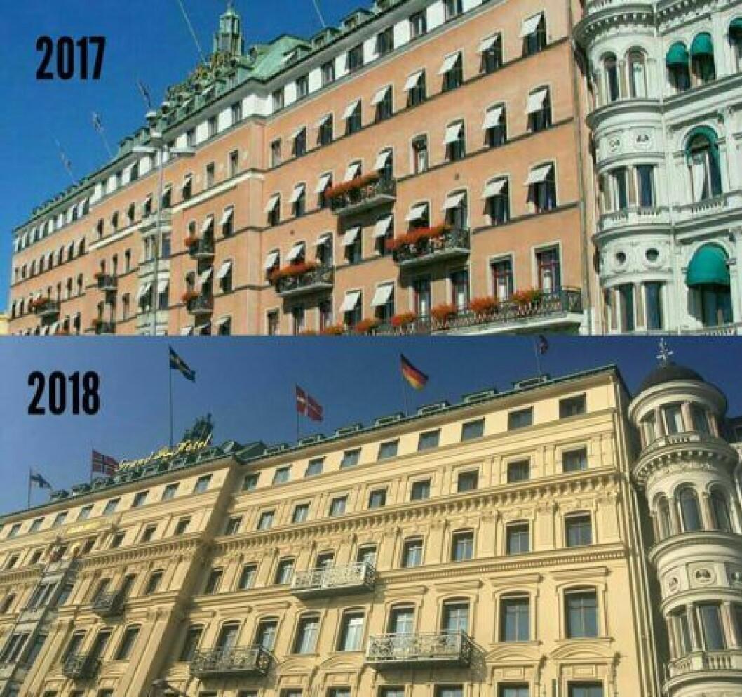 Grand Hôtel prisas för sin fasadrenovering