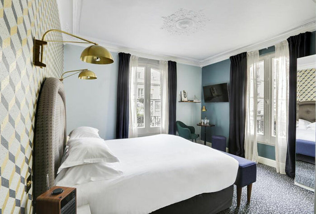 Grand Pigalle hotellet i Paris – hotellrum