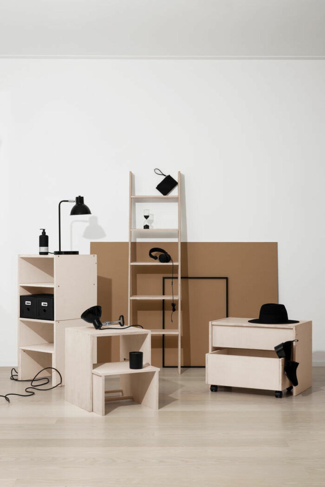 Nu lanserar Granit sin första egna möbelserie som består av flexibla moduler inspirerade av Bauhaus