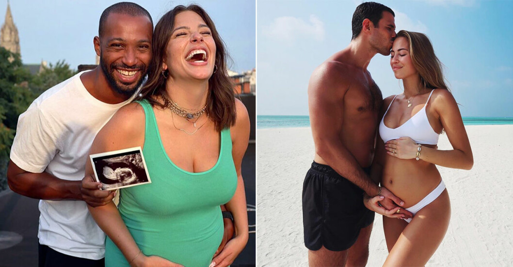 Kändisarna som delat inspirerande gravidbilder