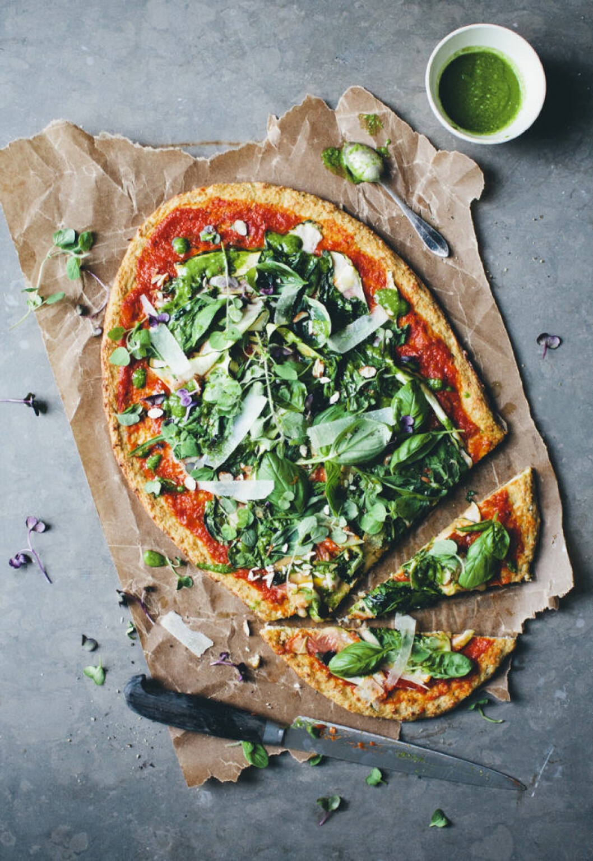 HÄRLIGT GRÖN PIZZA PÅ BLOMSKÅLSBOTTEN