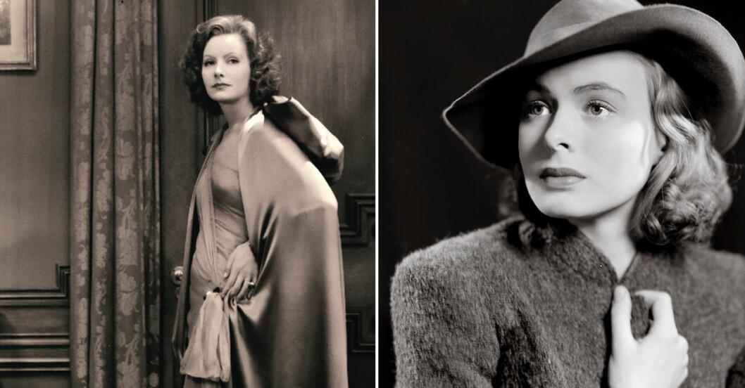 Greta Garbo och Ingrid Bergman hyllas med fotoutställning under Stockholm filmfestival