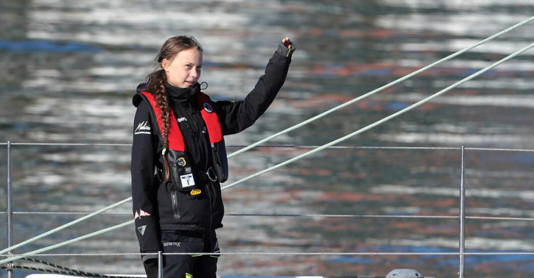 Greta Thunberg i Lissabon