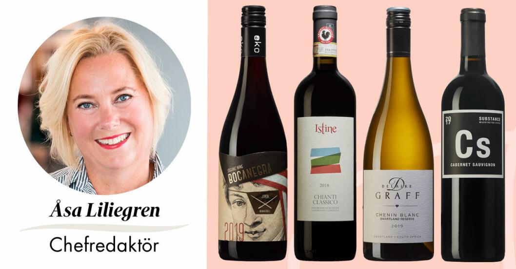 Feminas chefredaktör Åsa Liliegren tipsar om sommarens bästa grillviner