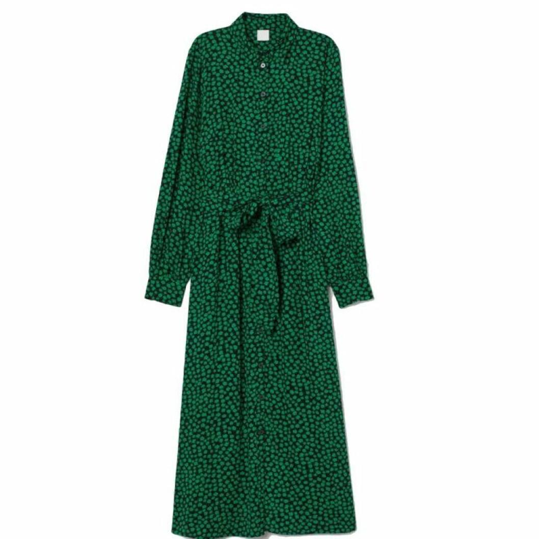Grön skjortklänning från H&M