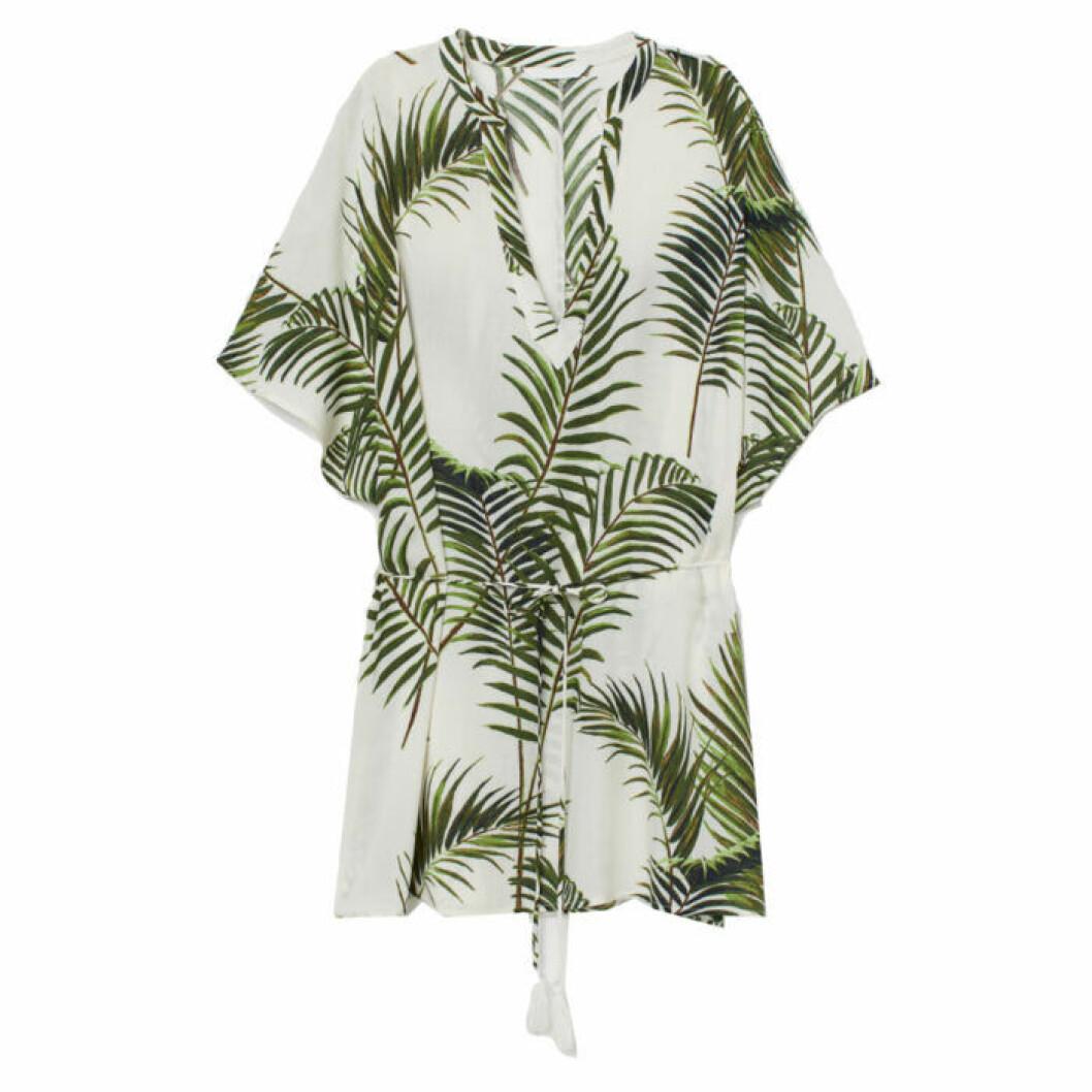 Grön kaftan med palmblad