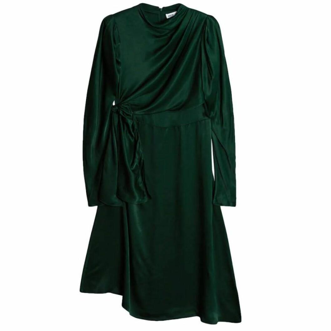 Grön omlottklänning från Gina tricot