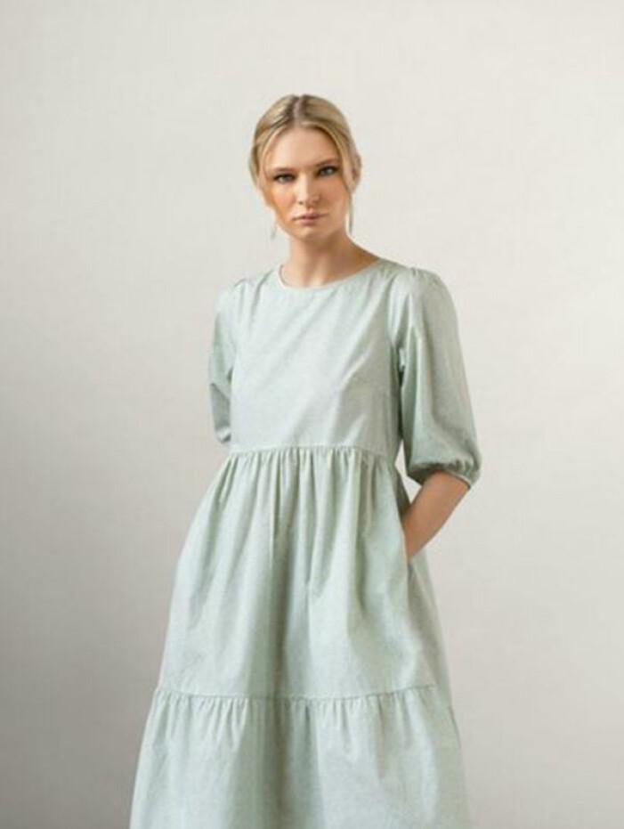 grön klänning anna brolin efter fem