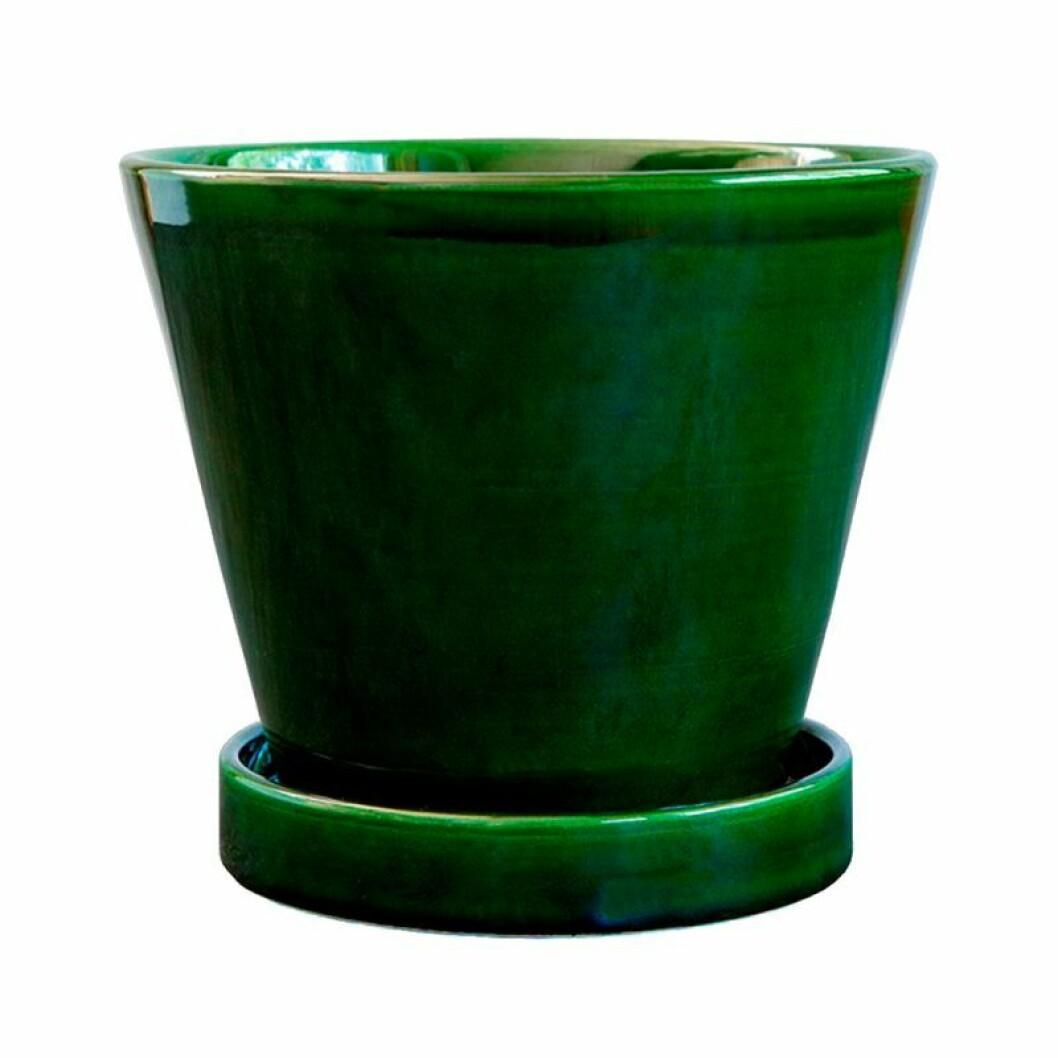 Grön laserad kruka till din terass eller altan