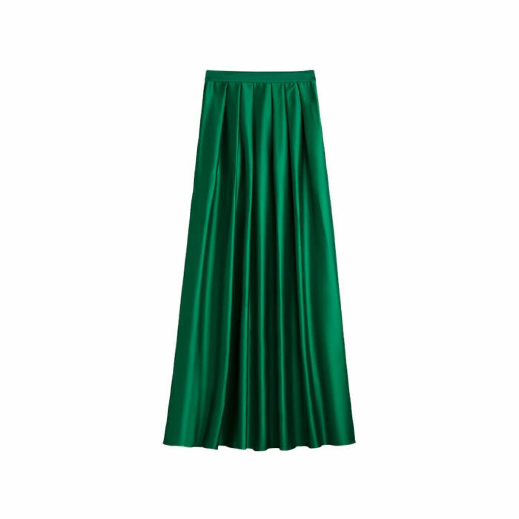 Grön sidenkjol