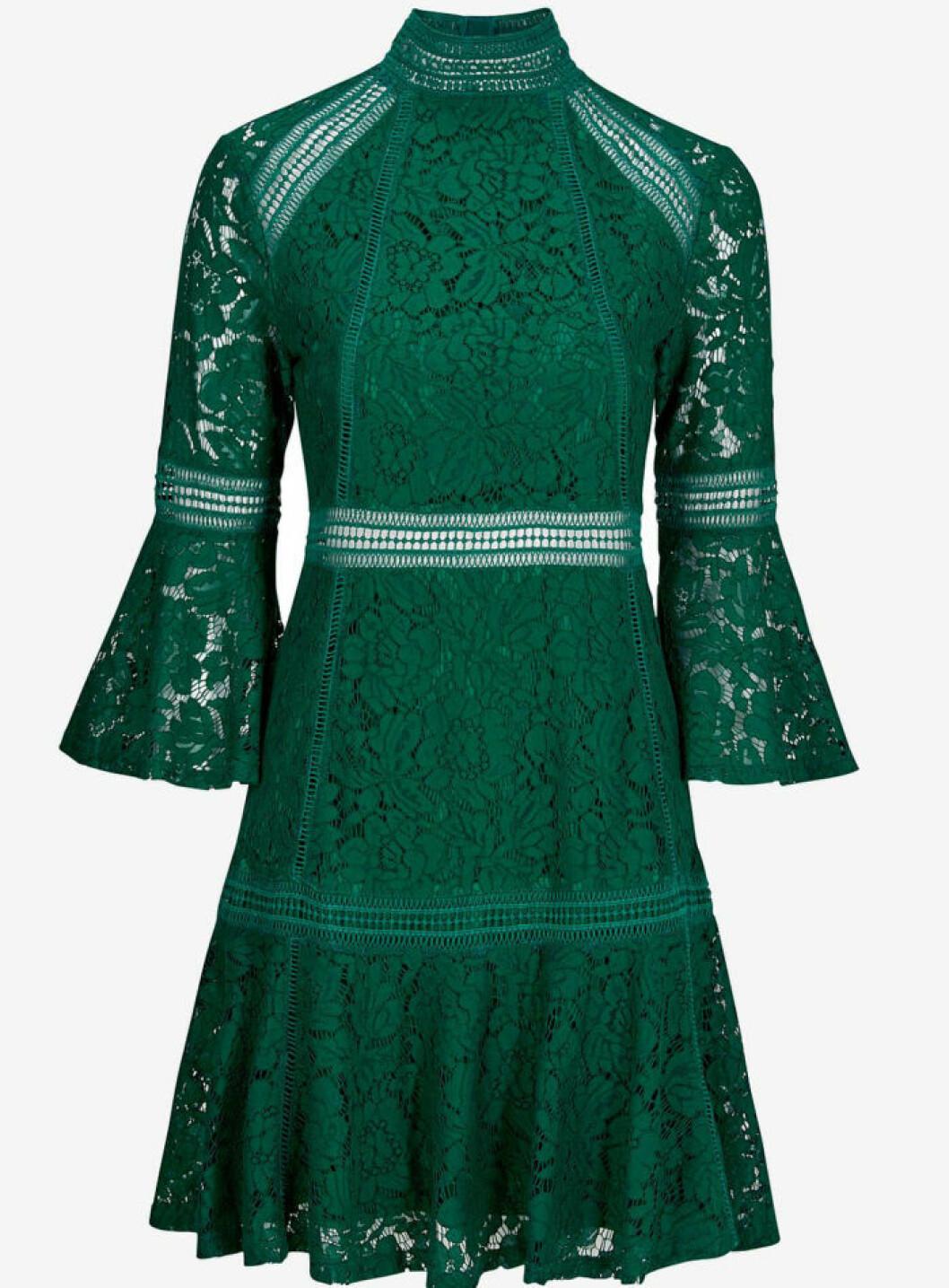 grön spetsklänning nyår 2017