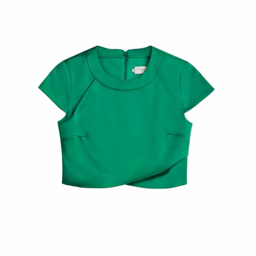 Grön sidentröja