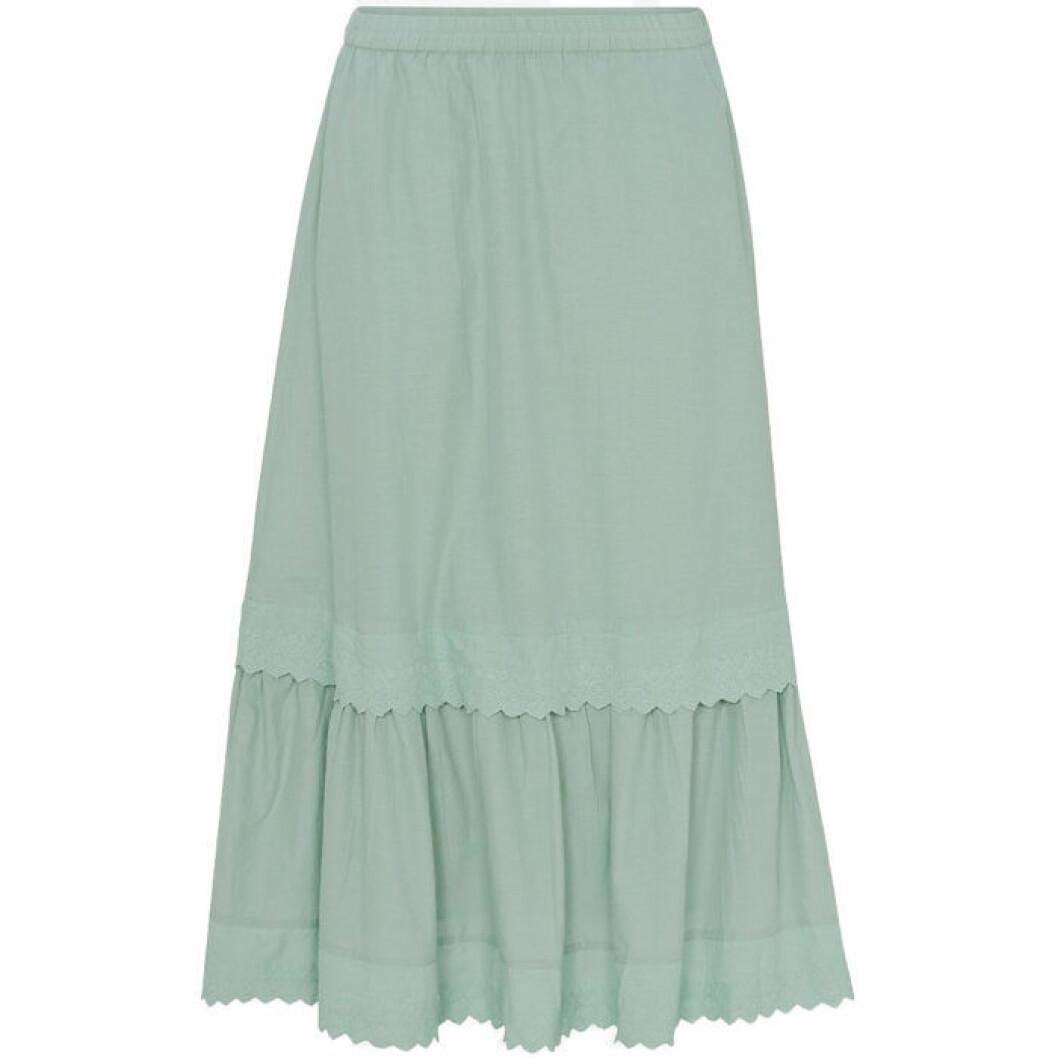 Grön vadlång kjol