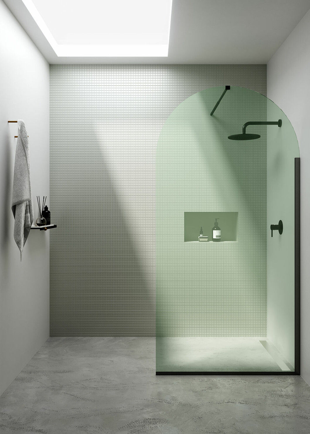 grönt badrum hos Ex. T