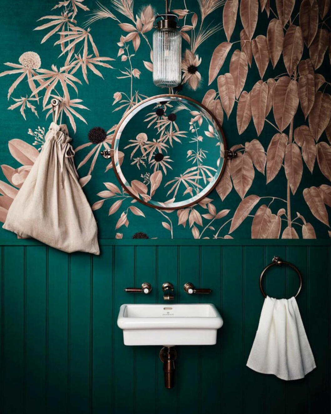 grönt badrum