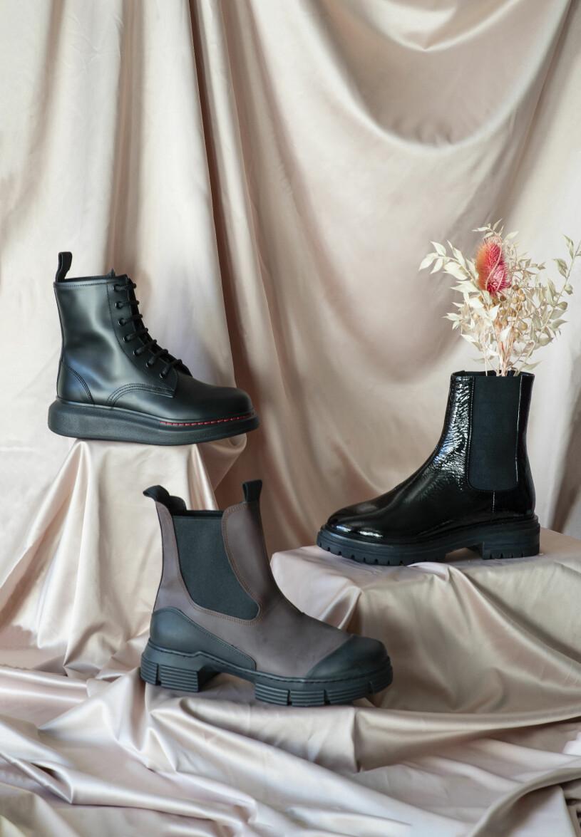 Grova boots från Alexander Mcqueen, Sofie Schnoor och Ganni, aw 20.