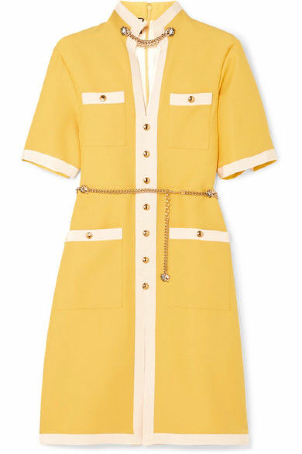 Gul klänning från Gucci